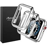 【マット仕上げの2020改良モデル】AMOVO Apple Watch 用 44mm ケース Series4/Series5/Series6/SeriesSE 専用 液晶全面保護カバー Apple Watch 用 フィルム日本旭硝子材 PCフレーム