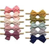 Baby Girl Super Stretchy Headbands and Bows, Soft Nylon Hair bands For Newborn Infant Toddler