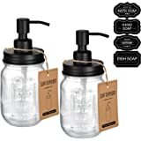 Mason Jar Soap Dispensers -Rustproof Stainless Steel Lid/Pump,Perfect for Hand Soap,Lotions,Dish Soap-with Chalkboard Labels