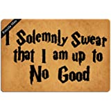 Ruiyida I Solemnly Swear That I Am Up To No Good Entrance Floor Mat Funny Door Mat Decorative Indoor Doormat Non-woven 23.6 B