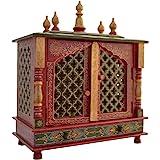 Fasherati Wooden Temple(Outer Size: Width: 46 cm, Depth: 23 cm, Height: 55 cm)/Home Temple/Pooja Mandir/Pooja Mandap/Temple f