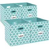 Homyfort Cloth Storage Bins,Flodable Cubes Box Baskets Containers Organizer for Drawers,Home Closet, Shelf,Nursery, Cabinet,