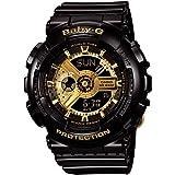 [カシオ]腕時計 Baby-G BA-110-1A ビッグケースシリーズ ブラックゴールド レディース [並行輸入品]