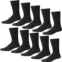 ハンエイスアイス ビジネスソックス 抗菌防臭 10足セット 25-27cm 靴下 リブ柄 メンズ