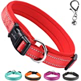 MASBRILL Adjustable Dog Collar, Soft Neoprene Padded Breathable Nylon Pet Collar Reflective For Puppy And Small Medium Large