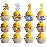24 counts Decorations for Winnie The Pooh Cupcake Toppers Birthday Party Topper for Children