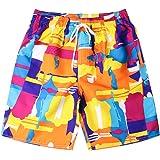 三番目の店 夏 ファッションカップル サーフパンツ メンズ 海水パンツ 水着 ゴムウェスト 吸汗速乾 水陸両用 海パンツ…