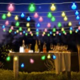 BlueFire Globe Fairy Light Battery Powered 22.9FT 50 LED Ball String Lights with Remote Control for Valentine's Day Holiday C