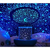 WINICE Remote Control and Timer Design Seabed Starry Sky Rotating LED Star Projector for Bedroom, Night Light for Kids, Night