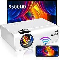 WiMiUS プロジェクター 6500lm 小型 WiFi ホームプロジェクター 1920×1080P最大解像度 HIF…