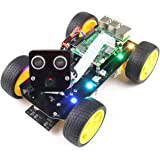 Freenove 4WD Smart Car Kit for Raspberry Pi 4 B 3 B+ B A+, Face Tracking, Line Tracking, Light Tracing, Obstacle Avoidance, C