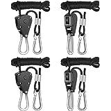 iPower GLROPEX2 2-Pair 1/8 Inch 8-Feet Long Heavy Duty Adjustable Rope Clip Hanger (150lbs Weight Capacity) Reinforced Metal,