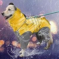 犬レインコート 犬用 ポンチョ ペットレインコートカッパ 雨合羽 防水 防雪 防塵 防風 小型犬 中型犬 大型犬 帽子付…
