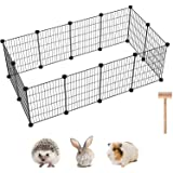 C&AHOME 12 PCS Pet Playpen, Portable Wire Small Animals Cage Yard Fence Indoor Ideal for Guinea Pigs, Puppy Pet Products, DIY