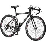 GRAPHIS(グラフィス) 自転車 ロードバイク 700x28C 21段変速 ドロップハンドル 補助ブレーキ GR-Je t'aime