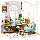 Rolife DIY Wooden Miniature Dollhouse Kit with Led Light-Mini House Woodcraft Construction Kit-3d Wooden Puzzle-Model Buildin