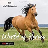 World of Horses 2021 Wall Calendar: Perfect Calendar for Organizing & Planning ,Funny Calendar for Horses Lovers ,18 Months
