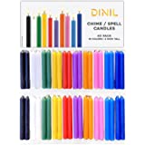"""Dinil – Spell Candles (40 Candles) – 4"""" x 1/2"""" Premium Candles for Rituals, Birthdays, Spells"""