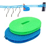 EVERSPORT 2 PACK Clothesline Clothes Drying Rope Portable Travel Clothesline Adjustable for Indoor Outdoor Laundry Clotheslin