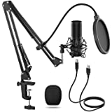 TONOR USB Condenser Microphone Recording Mic, Cardioid Polar Pattern for Music and Video Recording, Podcast, Live Stream, Gam