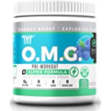 OMG Preworkout with Organic Caffeine and Creatine for Men and Women | Electrolytes and Stevia | Boost Energy, Stamina, Mental