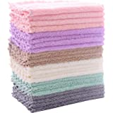 24 Pack Kitchen Dishcloths - Does Not Shed Fluff - No Odor Reusable Dish Towels, Premium Dish cloths, Super Absorbent Coral F