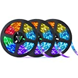50ft LED Strip Lights, OxyLED Music Sync Color Changing Light Strip with 20-Keys IR Remote and Control Box, 5050 RGB 450 LEDs