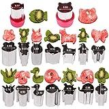 Hapdoo Vegetable Animal Cutter Shapes Set (16 Piece) – Mini Cookie Cutters, Vegetable Animal Shape Cutters
