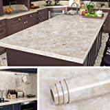 Livelynine 24x197 Inch Wide Countertop Contact Paper Granite Sticker Kitchen Countertops Peel and Stick Waterproof Marble Wal