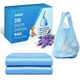 SZILBZ Baby Disposal Diaper Bag Diaper Sacks Must Have For Baby Nursery Lavender Scent & Added Baking Soda Trash Bag to Absor