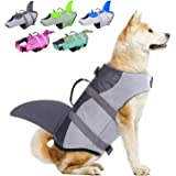 Dog Life Jackets, Ripstop Pet Floatation Life Vest for Small, Middle, Large Size Dogs, Dog Lifesaver Preserver Swimsuit for W