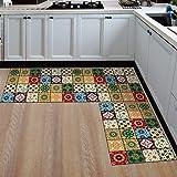 Kitchen mats Cushioned,Anti-Slip Kitchen Floor Mat Printed Kitchen Rugs Modern Area Rug for Kitchen Bathroom Carpet Doormat H