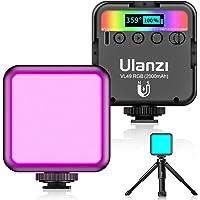 最新 Ulanzi VL49 RGB撮影ライト+三脚付き LEDビデオライト 卓上スタンド 359色RGBモード 明るさ…