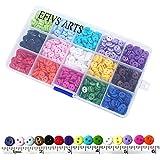 "Efivs Arts 1125 pcs 0.35""(9mm) 2 Hole Sewing Flatback Resin Buttons for Sewing DIY Crafts Scrapbooking Children's Manual Proj"