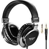 Neewer NW-3000 Closed Studio Headphones, 10Hz-26kHz Lightweight Dynamic Headsets with 3 meters Cable, 3.5mm and 6.5mm Plugs,