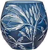 東洋佐々木ガラス フリーグラス ブルー 350ml キリコ サキシマボタンヅル HG110-54BG