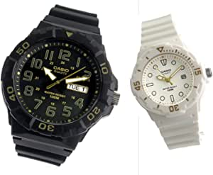 【ペアウォッチ】 カシオ CASIO クオーツ チープカシオ 腕時計 MRW-210H-1A2 LRW200H-7E2[並行輸入品]