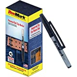 RevMark Industrial Permanent Marker with Patented Holster Cap, Fine Point, Black Ink, 12Pack, Made in the USA