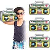 Inflatable Boombox 16.5 Inches Inflatable Boom Box 80s 90s Party Decorations for Rappers Hip Hop B-Boys Costume Accessory Par