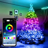 Christmas Tree Decoration Lights, Smart App Controlled Christmas Lights, for Christmas Tree Garden Decoration Custom Led Stri