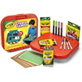 Crayola Create 'N Carry Art Kit Art Gift 2-in-1 Portable Lap Desk & Carry-Case for Child Artists On-The-Go,75Piece, Styles Ma