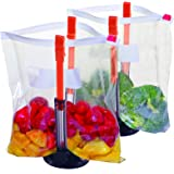 Jokari Suction Cup Fortified Baggy Rack 2 Pack for More Stability When Filling Plastic Freezer Storage Zip Lock Bags. Sturdy