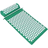 ValueHall Acupressure Mat and Pillow Set, Massage Mat with Separate Pillow -For Back & Neck Muscle Relaxation V7009-1 (Green)