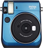 Fujifilm Instax Mini 70 + 1 Assorted Film + Accessories, Blue
