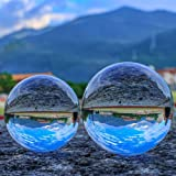 "SunAngel 80mm & 60mm Crystal Ball Bundle (3"" and 2.4""); Optical Glass Reflective Spheres, K9 Crystal Sphere Ball, Decor Photo"