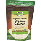 Now Foods Real Food, Organic Coconut, Unsweetened, Shredded, 284g