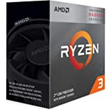 AMD Ryzen 3 3200G, 3.7 GHz 4-Core/4 Threads AM4 Processor with Radeon RX Vega 11 Graphics and Wraith Stealth Cooler, YD3200C5