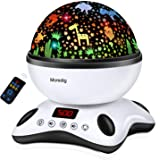 Moredig Night Light Projector Remote Control and Timer Design Projection lamp, Built-in 12 Light Songs 360 Degree Rotating 8