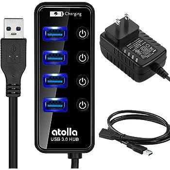 atolla CH-204U3-K 4ポートUSB3.0ハブキット (セルフパワー、電源スイッチ付き、4ポート+2.4A充電ポートx1) …