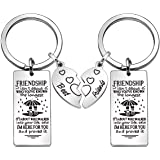 Friendship Gifts, 2 Pcs Best Friend Keychains Key Rings Keyring Christmas Gifts Thanksgiving Gifts Birthday Gifts